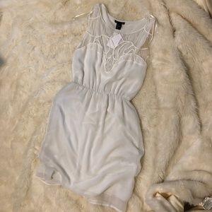 White Croquet Neckline Cover Up
